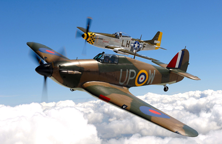 Hurricane & Mustang Airplane